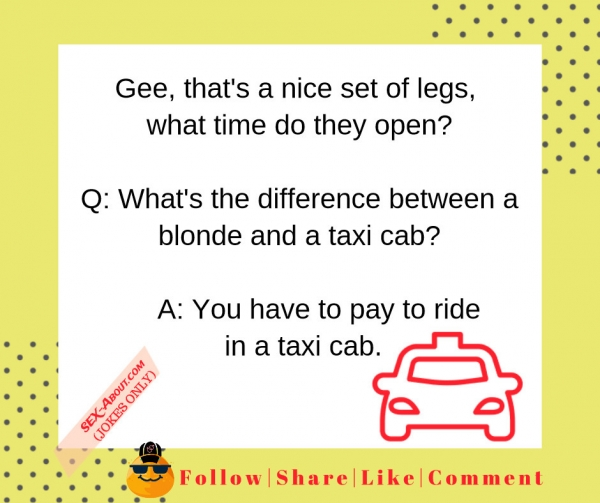 Difference between a blonde and a taxi